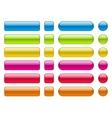collection of blank colorful buttons vector image