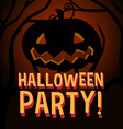 Halloween theme with pumpkin vector image vector image