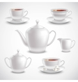 Realistic Tea Set vector image