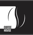 coffee bean black and white design background vector image