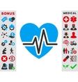 Heart Diagram Icon vector image