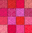 Paisley seamless pattern of patchworks vector image