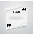 Quote text bubble vector image