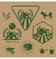 Set of retro farm labels vector image