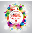 Merry Christmas Holiday with abstract glass ball vector image vector image