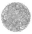 cartoon cute doodles honey vector image