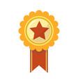 ribbon award of golden star for sport championship vector image vector image