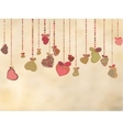 Vintage card with valentines hearts EPS 8 vector image vector image