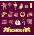 Sweet Icon Set vector image
