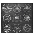 Best Mom Design Elements and Badges vector image vector image