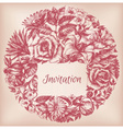 Round floral decoration frame for text vector image vector image