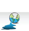 leaking world vector image