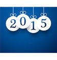 White paper round new year labels vector image