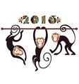 Monkey Year vector image vector image