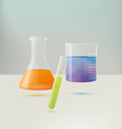 Chemistry Equipment vector image