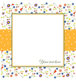 invitation with flowers and white background vector image