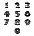 Tire track black numbers vector image