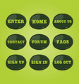 website icon button set vector image