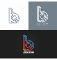 letter B logo alphabet design icon set background vector image