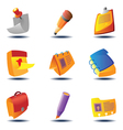Icons for papers and notes vector image vector image