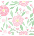 beautiful hand drawn peony background vector image