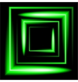 green neon square background vector image
