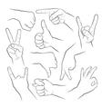 Human gestures vector image