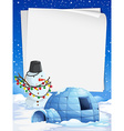 Blank paper with Christmas theme background vector image vector image