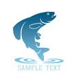 logo fish vector image