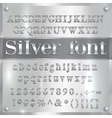 silver coated alphabet letters digits and vector image