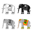 indian elephant icon in cartoon style isolated on vector image