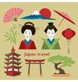 Japan icon set vector image