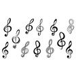 Music note keys vector image
