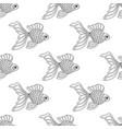 seamless pattern of line art goldfish vector image