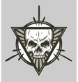 Skull and geometric elements vector image