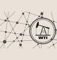 wti crude oil presentation banner vector image