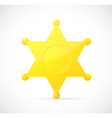 Sheriff star badge cartoon vector image
