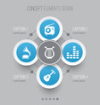 audio icons set collection of lyre equalizer vector image