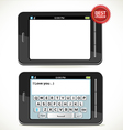 Smart phone with screen keyboard vector image
