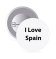 white round pin with text spain vector image