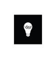 white bulb and idea icon vector image