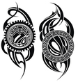 Styled tattoo vector image vector image