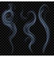 Light blue smoke vector image