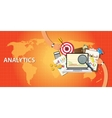 analytics data from website and get traffic vector image