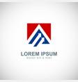 arrow business profit logo vector image