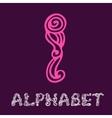 Doodle hand drawn sketch alphabet Letter I vector image