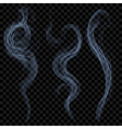 Light blue smoke vector image