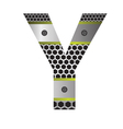 perforated metal letter Y vector image