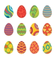 Set of Easter Eggs Design Flat vector image