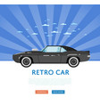 website design with classic muscle car vector image